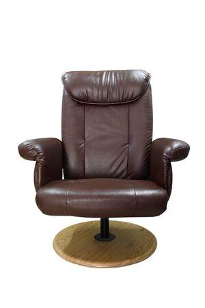 Brown sofa leg circle on white isolated  photo