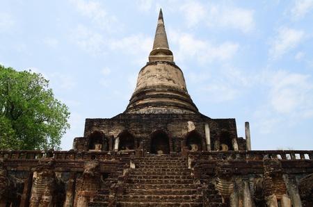 Wat Chang Lom in sukhothai unesco