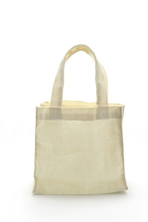 fabric bag: Cotton bag on white isolated background.