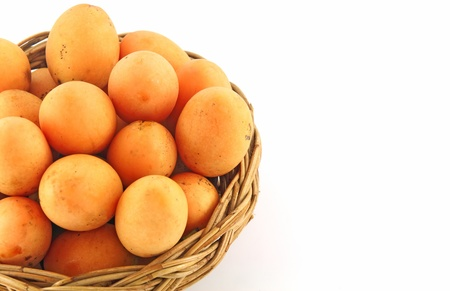 Thai Fruit. Maprang, Marian plum, Gandaria, Marian mango, Plum mango. Isolated on white background photo