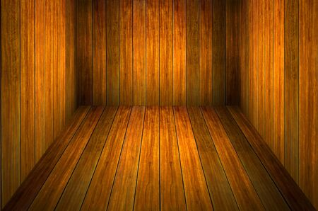 wood room with panel and floor background Stock Photo - 10181322