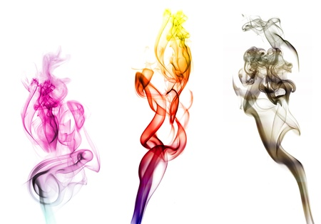 air flow: Smoke colorful
