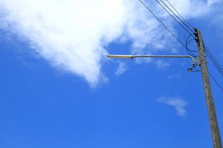 lamp post electricity industry Stock Photo - 10297709