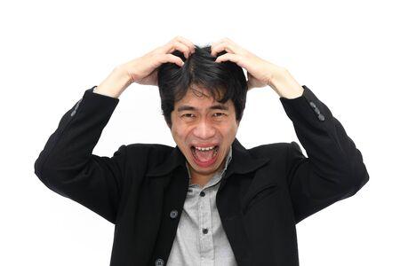 Businessman under stress photo