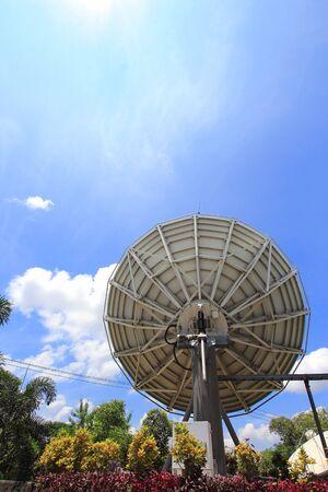 parabolic: Back of a satellite dish very Large