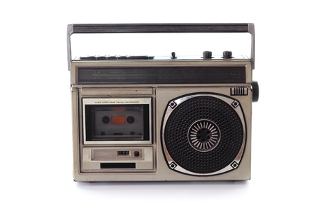 audio cassette: Vintage Radio cassette tape
