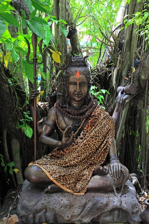 lord: Hindu God Vishnu under the tree Stock Photo