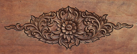 carve: Carved pattern on wood, element of decor
