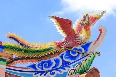 Phoenix statue Chinese style photo