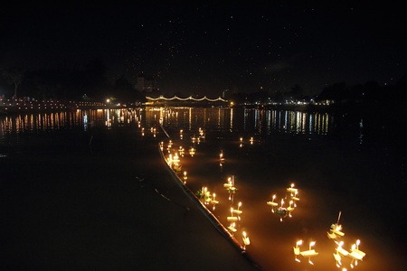 Loy Kratong Festival in Chiangmai Thailand