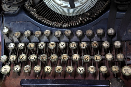 Ancient typewriter keys close up. Stock Photo - 11473624
