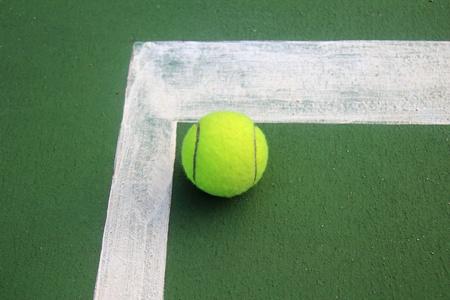 Tennis ball on a tennis court Stock Photo - 11473631