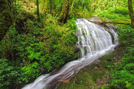 Waterfall in Inthanon mountain, Chiang mai Thailand  photo