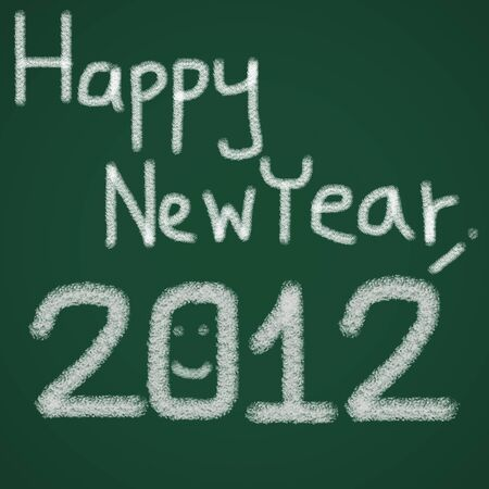 Happy New Year 2012 on a blackboard photo