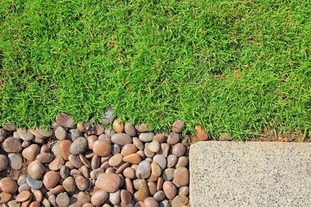 brick road: grass stones and slab texture