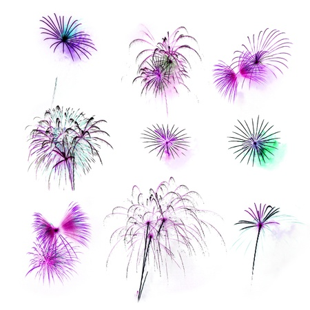 colorful light display: Mix Fireworks