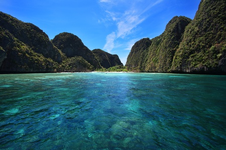 Maya bay in Phi-Phi island, Krabi Thailand  photo
