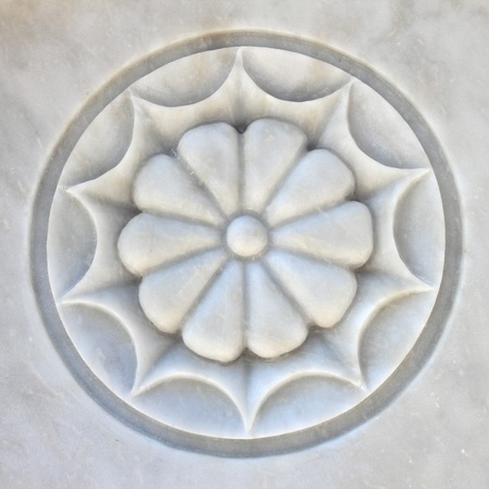 Romance Marble Flower Sculpture  photo