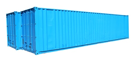 Blue container photo