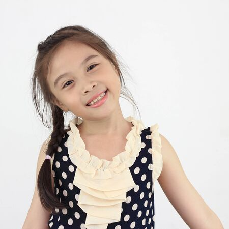 Cute happy asian girl photo