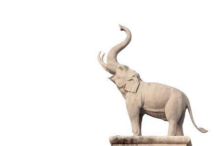 Elephant Statue on white background photo