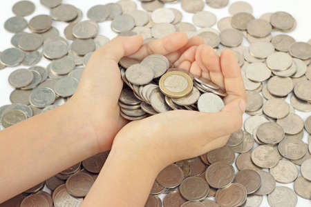 hands holding  euro coins Stock Photo - 12602413