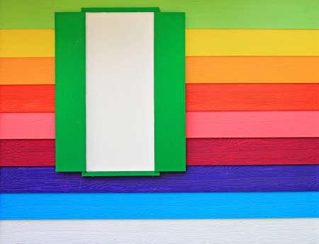 Colorful window wood board Stock Photo - 12602488
