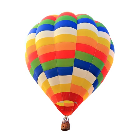 balloon hot air isolated white background photo