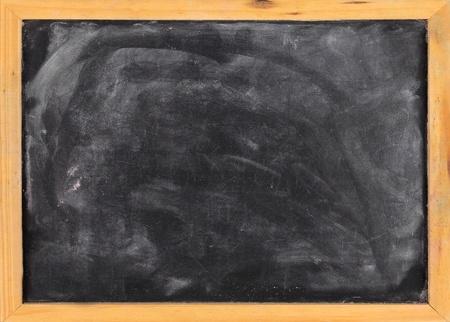 chalk board: Grunge blank blackboard copyspace with wood frame