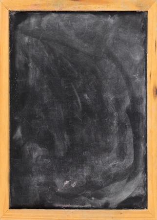 Grunge blank blackboard copyspace with wood frame