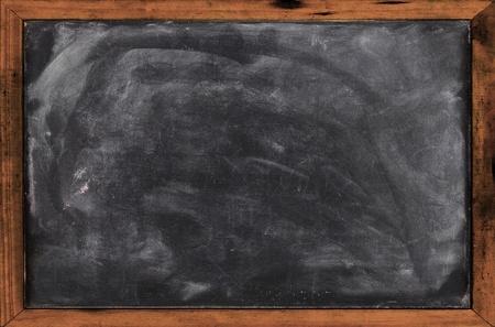 Real grunge blank blackboard copyspace with wood frame  Stock Photo