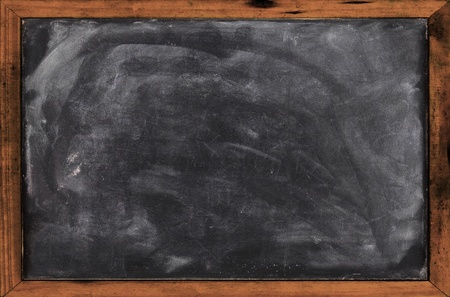 Real grunge blank blackboard copyspace with wood frame