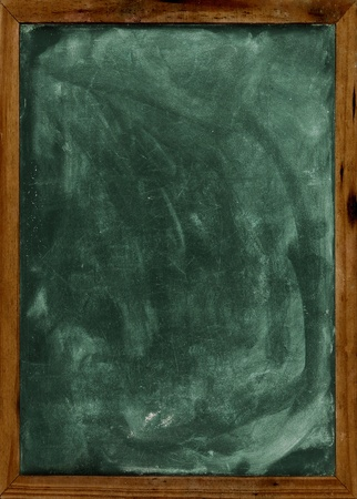 chalk board background: Real grunge blank blackboard copyspace with wood frame  Stock Photo