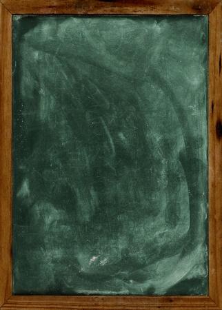 slate board: Real grunge blank blackboard copyspace with wood frame  Stock Photo