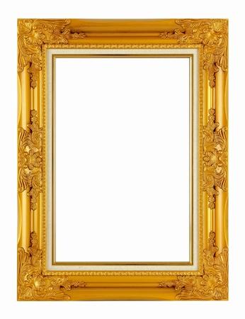 gild: vecchia cornice oro antico isolato su sfondo bianco Archivio Fotografico