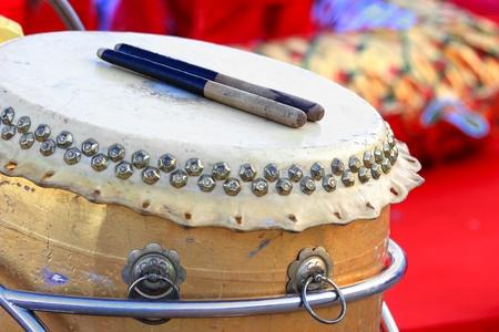 Chinese Traditionele Houten Trommel Stockfoto