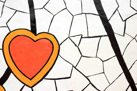Abstract painted heart Stock Photo - 14532284