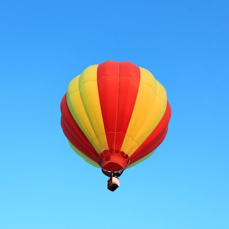 Hor air balloon in the blue sky photo