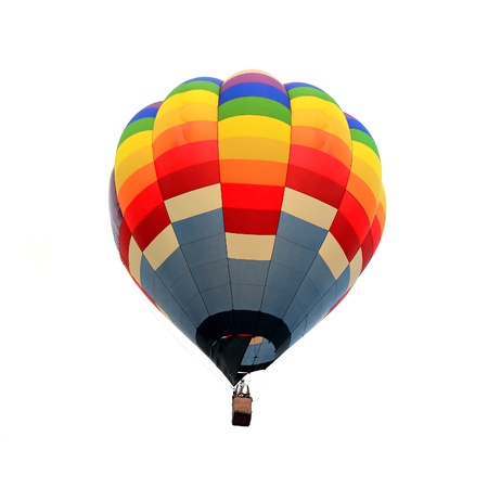 Hete lucht ballon geà ¯ soleerd witte achtergrond