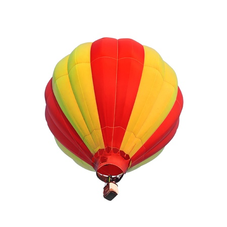 Hot air balloon isolated white background photo