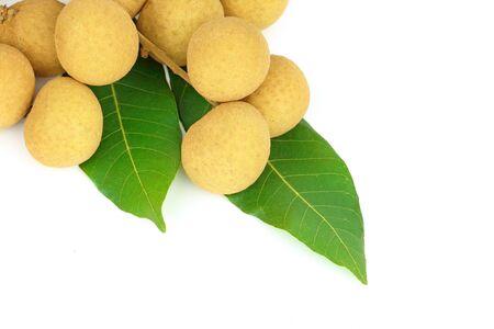 longan: longan fruit isolated on white background