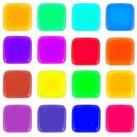 Multicolor icon of honey drop  photo