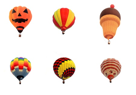 balloon hot air isolated white background Stock Photo - 16127787