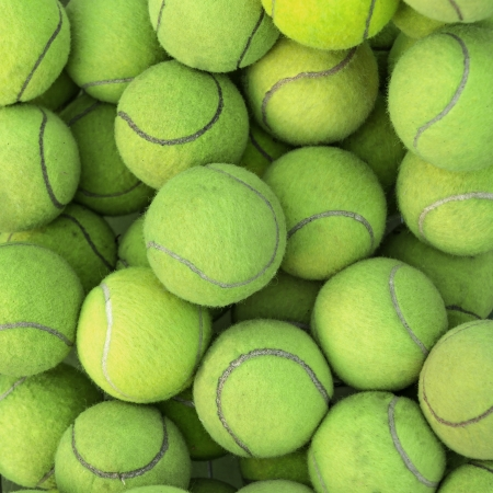 tennis net: Tennis balls background texture