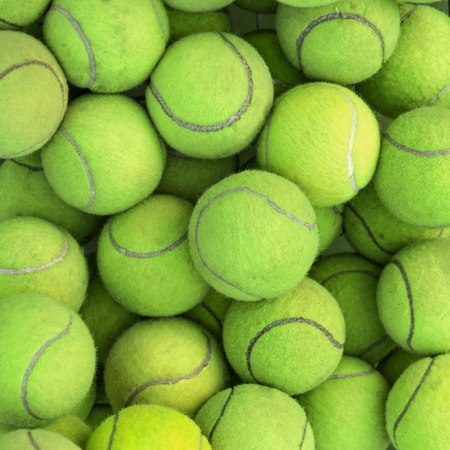 Tennis balls background texture