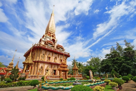 chalong: WAT CHAITHARAM or Wat Chalong TEMPLE in Phuket thailand Stock Photo
