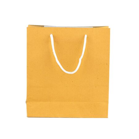 recycle brown paper bag isolated on white background Stock Photo - 17747385