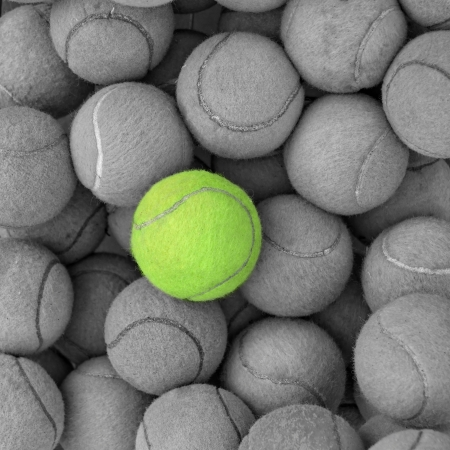 Tennis balls background texture photo