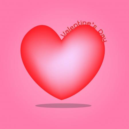 Red heart Valentine day