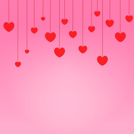 Red hearts drop Valentine day Stock Photo - 17747398